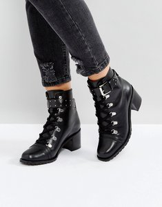 Read more about Asos ratio leather hiker boots - black leather