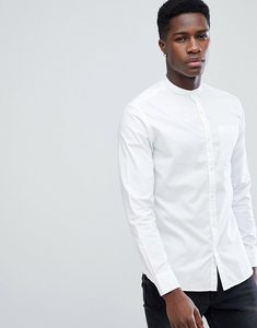 Read more about Jack jones premium slim fit grandad collar shirt - white