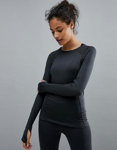 Read more about Prettylittlething long sleeve gym top - charcoal