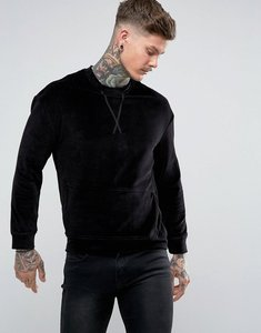 Read more about Religion velour sweatshirt with pocket - washed black