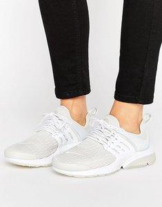 Read more about Nike presto trainers in premium stretch leather - light bone