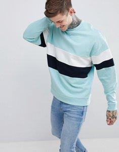 Read more about Asos design oversized sweatshirt with colour block - eden