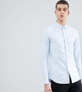 Read more about Farah brewer slim fit oxford shirt in blue - navy