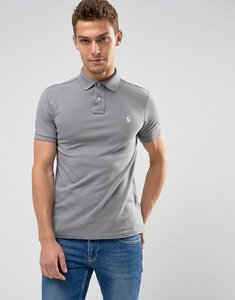 Read more about Polo ralph lauren pique polo slim fit in mid grey - perfect grey
