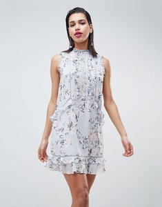 Read more about Forever new lace detail shift dress - light based floral