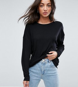 Read more about Asos tall oversized t-shirt with batwing detail - black