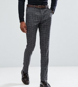 Read more about Gianni feraud tall skinny fit blue checked suit trousers - blue