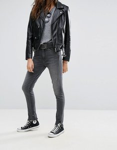Read more about Levi s altered 721 high waisted skinny jean with raw hem - up in smoke