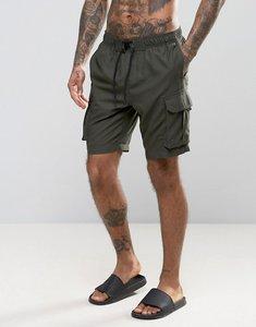 Read more about Brave soul classic cargo swim shorts - khaki