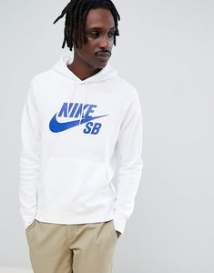 Read more about Nike sb icon pullover hoodie in white 846886-101 - white
