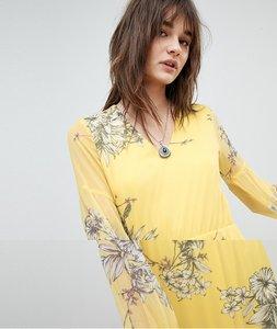 Read more about Vero moda floral maxi dress - cream gold