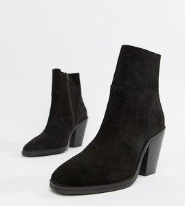 Read more about Asos design espresso suede ankle boots - black suede