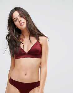 Read more about Real fusion shimmer triangle bra - oxblood red