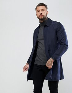 Read more about Asos shower resistant single breasted trench coat in navy - navy
