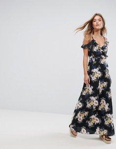 Read more about Pimkie cold shoulder floral maxi dress - black pattern