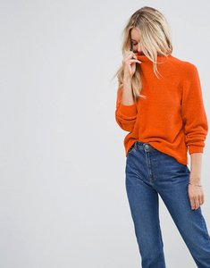 Read more about Asos jumper with wide sleeves in fluffy yarn - orange