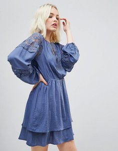Read more about Hazel lace panelled long sleeved dress - denim