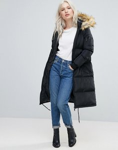 Read more about Brave soul long padded coat - black