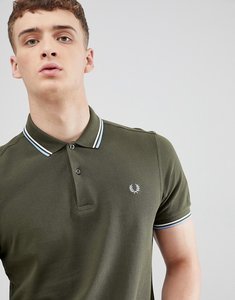 Read more about Fred perry twin tipped polo shirt in dark green - d65