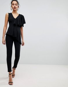 Read more about Club l frill tiered sleeve jumpsuit - black