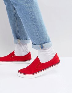 Read more about Brave soul retro slip on plimsolls - red