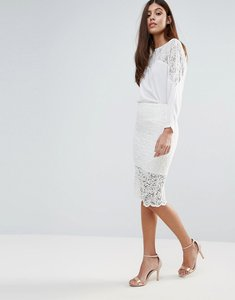 Read more about Zibi london lace pencil skirt - white