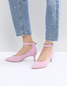 Read more about Asos design simi kitten heels - pink