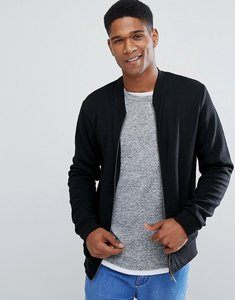 Read more about Threadbare quilted zip through bomber sweat - black