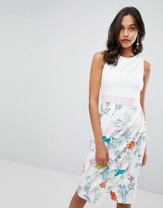 Read more about Closet london floral skirt pencil dress - pink