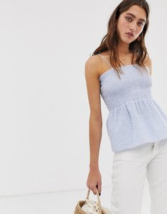 Read more about Only smock gingham crop top