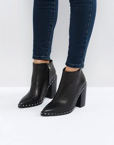Read more about Sol sana ajax black studded heeled ankle boots - black