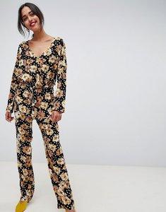 Read more about Vila floral boho jumpsuit - black