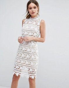 Read more about New look premium cutwork lace high neck dress - white pattern