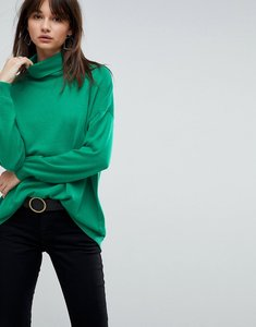 Read more about Asos oversized jumper with slouchy neck - bright green