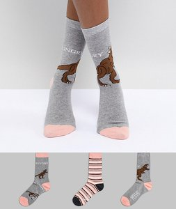 Read more about Sock shop hangry sock 3 pack - multi