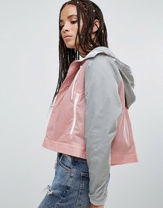 Read more about Parka london annalise lightweight 2 in 1 raincoat - grey pink