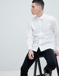 Read more about Selected homme slim fit linen shirt - white