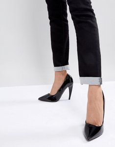 Read more about Asos prosecco pointed high heels - black patent