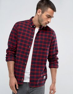 Read more about Penfield corey check shirt buttondown flannel regular fit in red - red