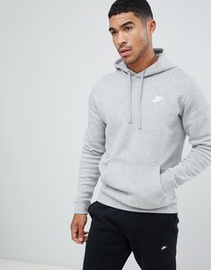 Read more about Nike pullover hoodie with embroidered logo in grey 804346-063 - grey