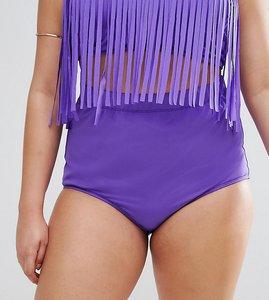 Read more about Monif c purple high waist bikini bottom - bluish purple
