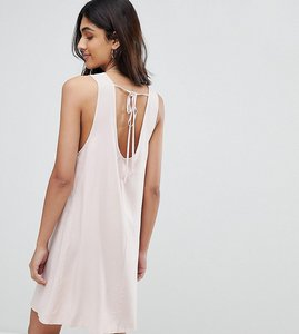 Read more about Glamorous tall sleeveless shift dress with tie back - pink