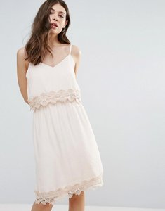 Read more about B young summer dress with lace insert - pale blush