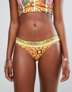 Read more about Maaji reversible palm printed hipster bikini bottoms - orange multi