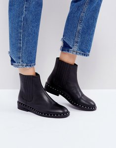 Read more about Asos alistar leather chelsea boots - black leather
