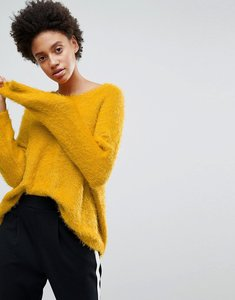 Read more about Stradivarius long sleeve fluffy jumper - yellow