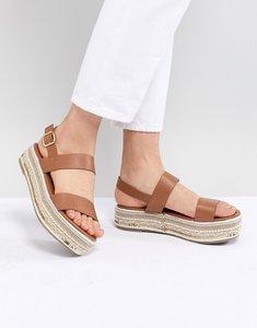 Read more about New look embellished flatform sandal - tan