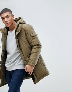 Read more about Esprit parka with borg lined hood and hand warmer pockets - khaki 360