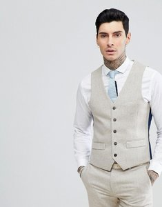 Read more about Harry brown donnegal slim fit suit waistcoat - oatmeal