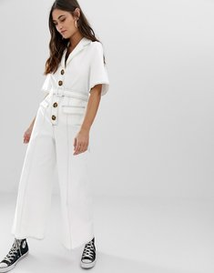 Read more about The east order dex jumpsuit with contrast stitching